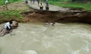 Temporais na Índia deixam mortos e desabrigados