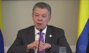 População comemora o Nobel da Paz do presidente Juan Manuel Santos