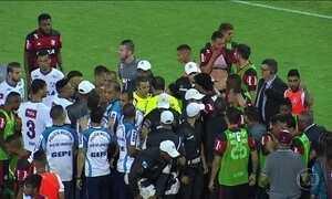 Resultado do clássico entre Flamengo e Fluminense está suspenso