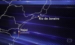 Naufrágio em Imbituba (SC) deixa um morto e seis desaparecidos
