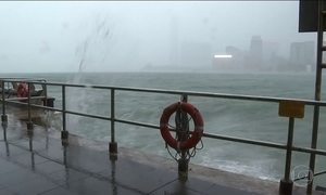 Tufão Haima deixa 12 mortos na Ásia