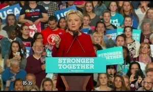 Reta final das campanhas de Hillary e Trump na corrida presidencial