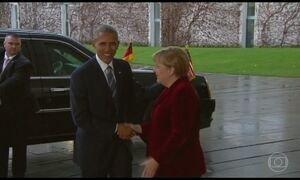 Obama vai para Alemanha na última viagem como presidente dos EUA