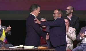 Governo colombiano assina acordo de paz com as Farc