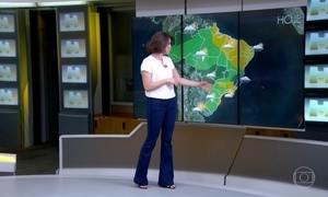 Previsão é de chuva em Minas Gerais e no DF