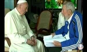 Fidel Castro recebeu três papas em Cuba
