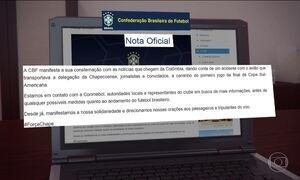 CBF divulga nota em que lamenta acidente com avião da Chapecoense