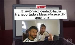 Avião que caiu com time da Chapecoense transportou seleção da Argentina semanas antes