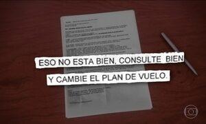 Jornal Hoje obtém plano de voo da Lamia, que transportava a delegação da Chapecoense