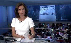 Indústria volta a recuar em outubro após leve alta
