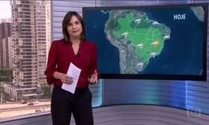 Veja a previsão do tempo para todo o país nesta segunda-feira (19)