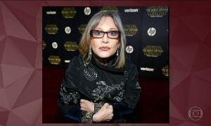 Carrie Fisher está estável após ataque cardíaco, diz mãe da atriz