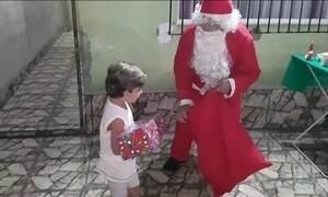Veja vídeos enviados ao Fantástico sobre o Natal em família