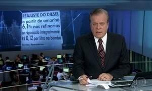 Petrobras anuncia reajuste de 6,1% no valor do diesel