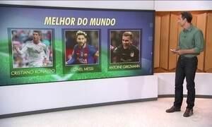 Fifa anuncia ganhador do prêmio de melhor jogador do mundo nesta segunda (9)