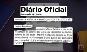 Tarifa do transporte público de SP aumenta depois da Justiça suspender o reajuste