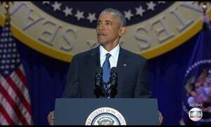 Barack Obama faz último discurso como presidente americano