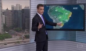 Veja a previsão do tempo para esta quinta-feira (12) em todo o Brasil