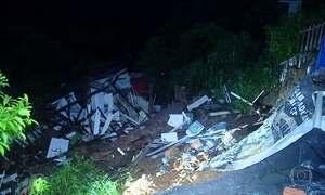 Forte chuva causa deslizamento e mata uma pessoa em Florianópolis