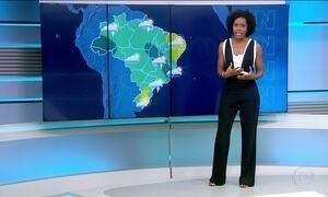 Sábado (4) tem previsão de chuva em boa parte do país