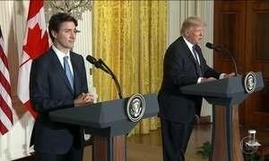 Trump recebe premiê Justin Trudeau, do Canadá