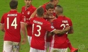 Bayern de Munique e Real Madrid conseguem boa vantagem na Liga dos Campeões da Europa