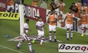 Lucas Pratto volta a marcar na vitória do São Paulo sobre São Bento