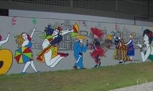Carnaval do Recife ganha cara nova com murais criados por grafiteiros