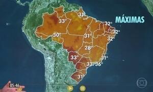 Confira a previsão do tempo para a quinta-feira (23)