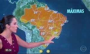 Confira a previsão do tempo para a quarta-feira (15)