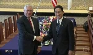 Secretário de Estado dos EUA faz visita a países da Ásia