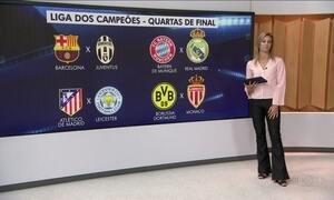 Liga dos Campeões sorteia confrontos das quartas de final
