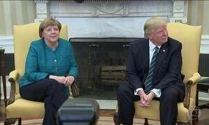Trump diz que notícias eram falsas e que encontro com Merkel foi ótimo