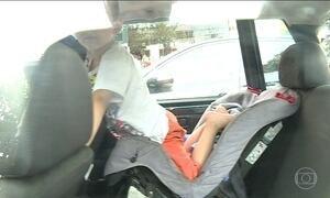 Crescem as multas por falta de uso da cadeirinha infantil