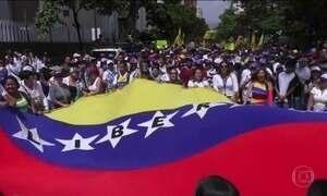 Protestos na Venezuela contra o governo terminam com três mortos