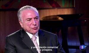 Temer fala sobre corrupção e investigações em TV da Espanha