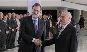 No Planalto, Temer e primeiro-ministro da Espanha assinam atos de cooperação