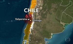 Terremoto de magnitude 6,9 atinge região central do Chile