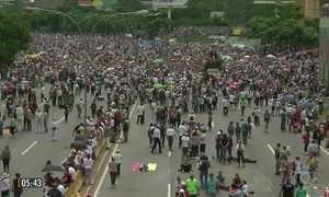 Três pessoas morrem em protestos na Venezuela