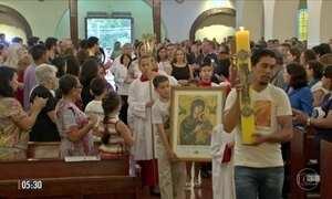 Vítimas de trânsito recebem homenagem em missa no 'Maio Amarelo'