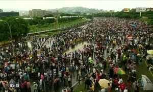 Manifestantes protestam contra Nicolás Maduro na Venezuela