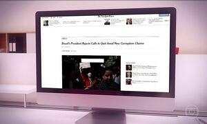 Crise brasileira ocupa manchetes internacionais nesta quinta-feira (18)