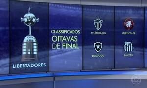 Brasil já tem quatro brasileiros nas oitavas de final da Libertadores