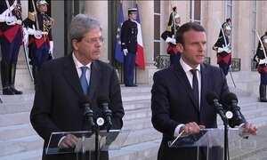 Presidente da França recebe primeiro-ministro da Itália