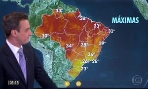 Confira a previsão do tempo para a quarta-feira (24)