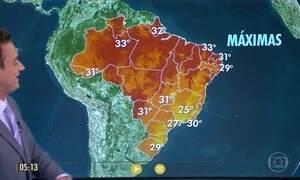 Confira a previsão do tempo para a quinta-feira (25)
