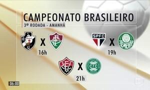 Confira as partidas da próxima rodada do Brasileirão