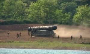Coreia do Norte lança o terceiro míssil balístico em menos de um mês