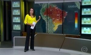 Veja a previsão do tempo para este sábado (3) em todo o Brasil