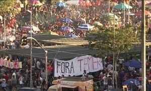 Manifestantes participam de ato em SP para pedir a saída de Temer e Eleições Diretas